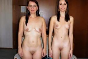 Divoký gang bang matky s nevlastní dcerou v hotelovém pokoji – české porno