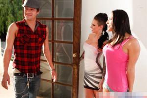 Proutník vyšuká obě své milenky, aneb lepší trojka, než nic! (Adrianna Luna a Christy Mack)